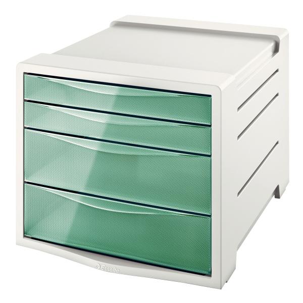 Zásuvkový box Colour´Ice - ledově zelená / 2+2 zásuvky