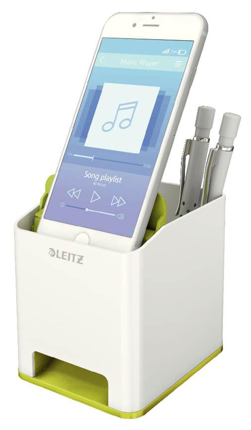 Hudební stojánek na psací potřeby Leitz Wow - zeleno - bílá