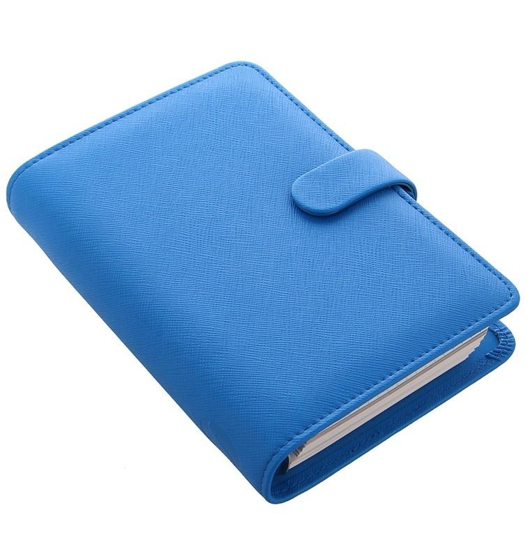 Filofax Saffiano Fluoro A6 osobní týdenní modrá
