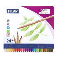 Pastelky Milan v plechové krabičce -  24 barev