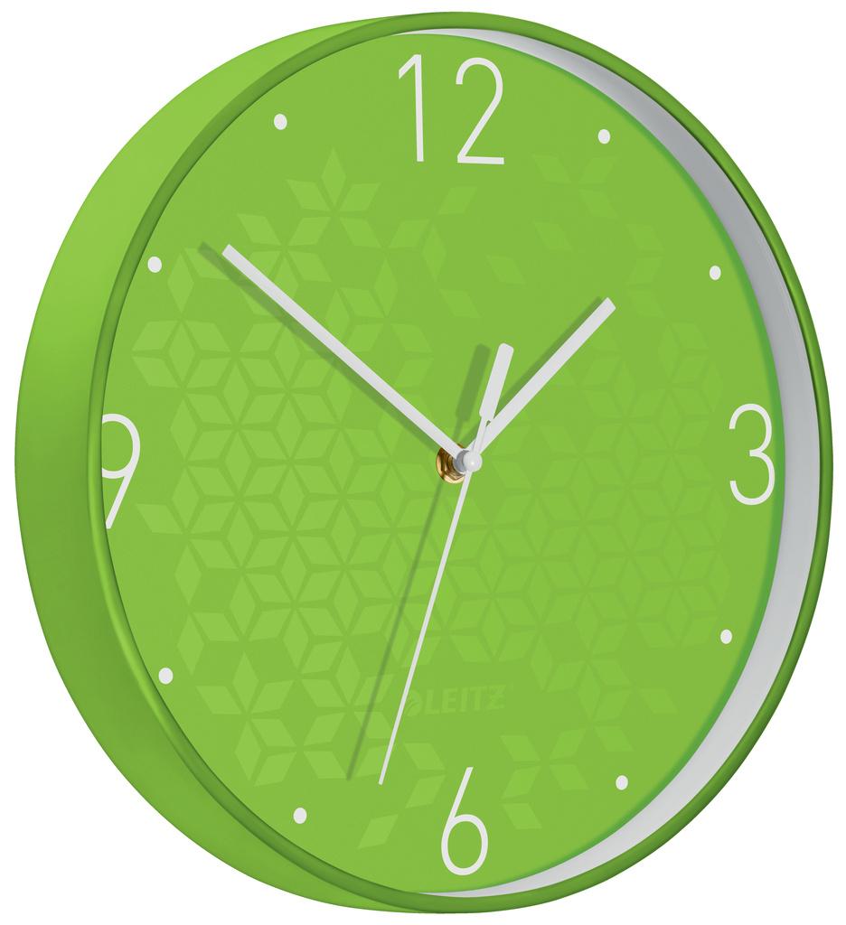 Leitz WOW nástěnné hodiny tiché zelená