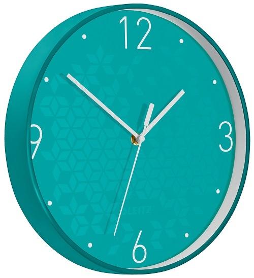 Leitz WOW nástěnné hodiny tiché tyrkysová