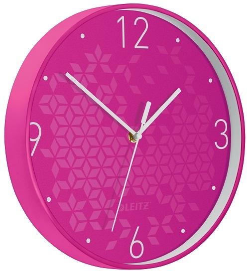 Leitz WOW nástěnné hodiny tiché růžová
