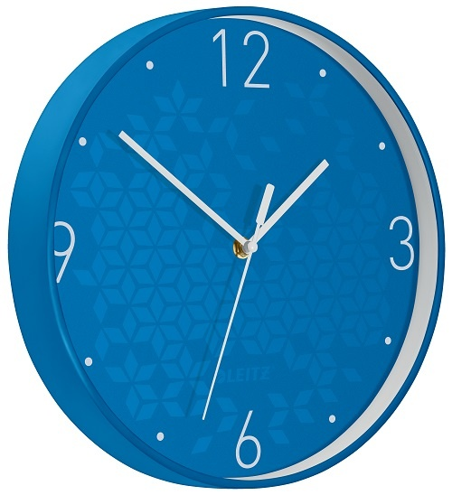Leitz WOW nástěnné hodiny tiché modrá