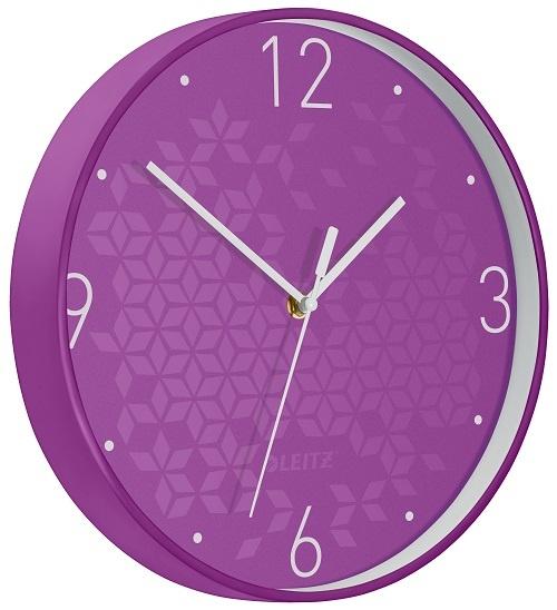 Leitz WOW nástěnné hodiny tiché fialová