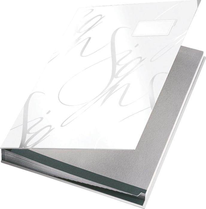Designová podpisová kniha - bílá