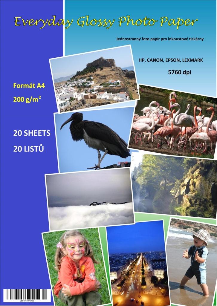 Everyday photo fotopapír A4 20 listů 200 g
