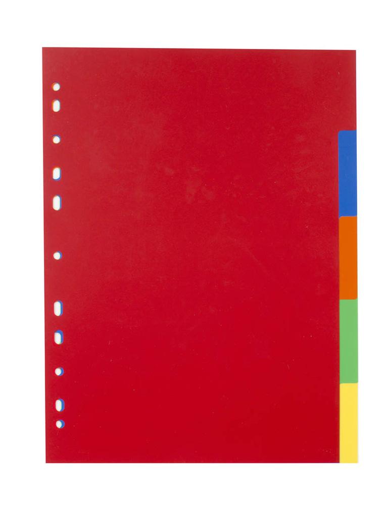 Rozdružovač A4 plastový barevný - 2 x 6 barev