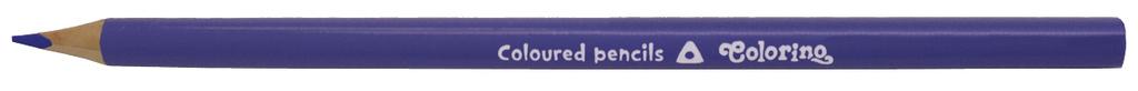 Pastelky trojhranné - 12 ks / fialová