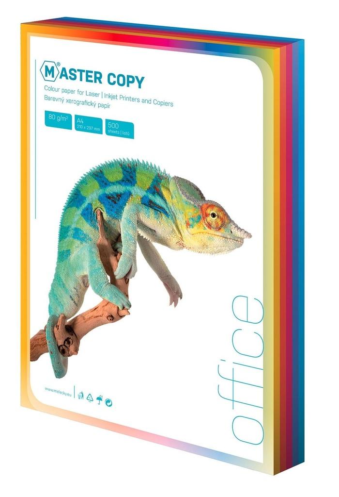 Barevné papíry A4 80 g - sytá duha / 100 listů / barevný mix