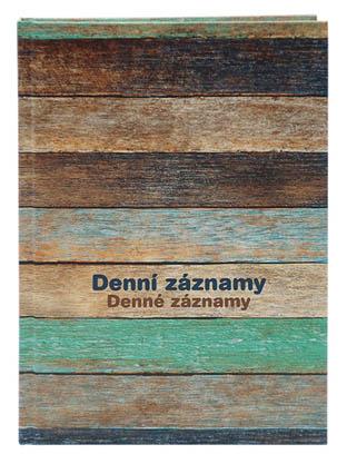 Denní záznamy Baloušek - A5 / dřevo