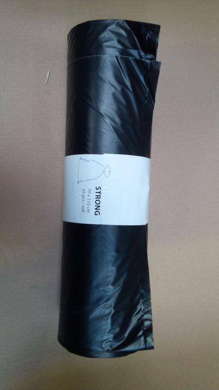 Pytle na odpad Alufix 70x100 cm 120 l 17 my 25 ks černé
