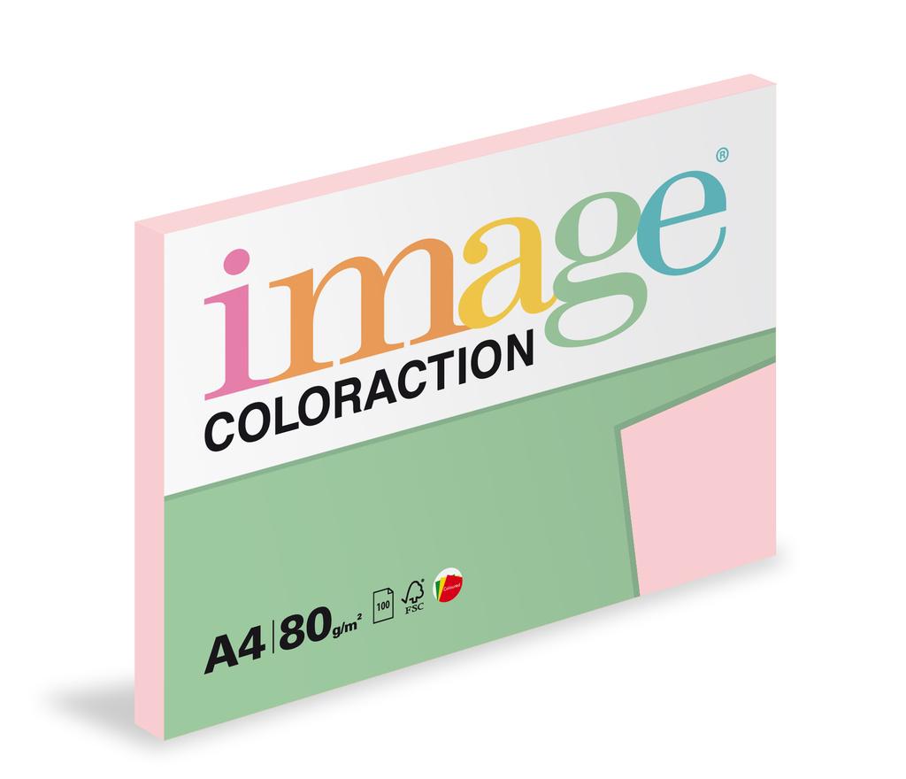 Xerografický papír BAREVNÝ - Tropic / pastelově růžová/ 100 listů / OPI74