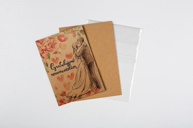 Přání Baloušek BeBechy - Novomanželům