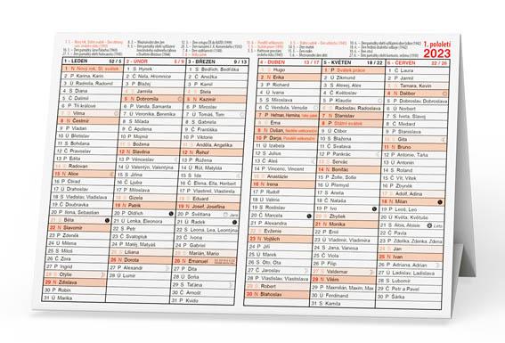 Plánovací kalendáře - Stříškový A5 / BKA2