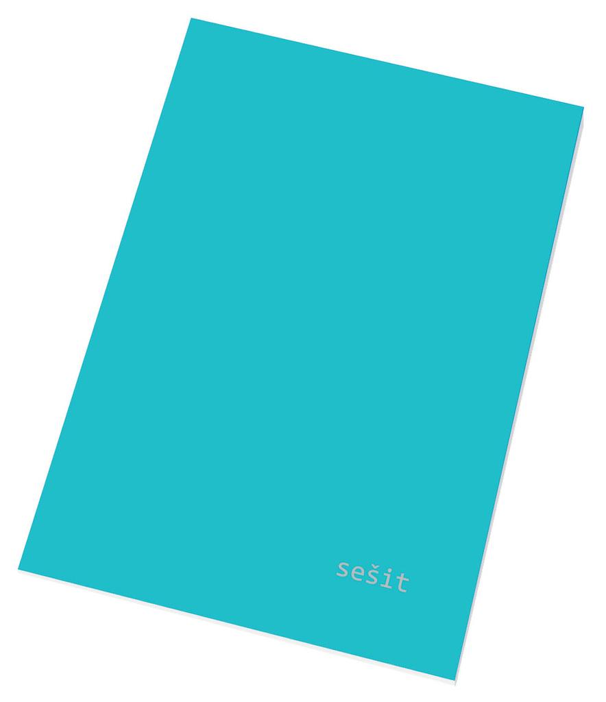 Papírny Brno sešit A5 40 listů linka 544 mix barev