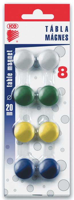 Magnety - průměr 20 mm / barevný mix / 8 ks