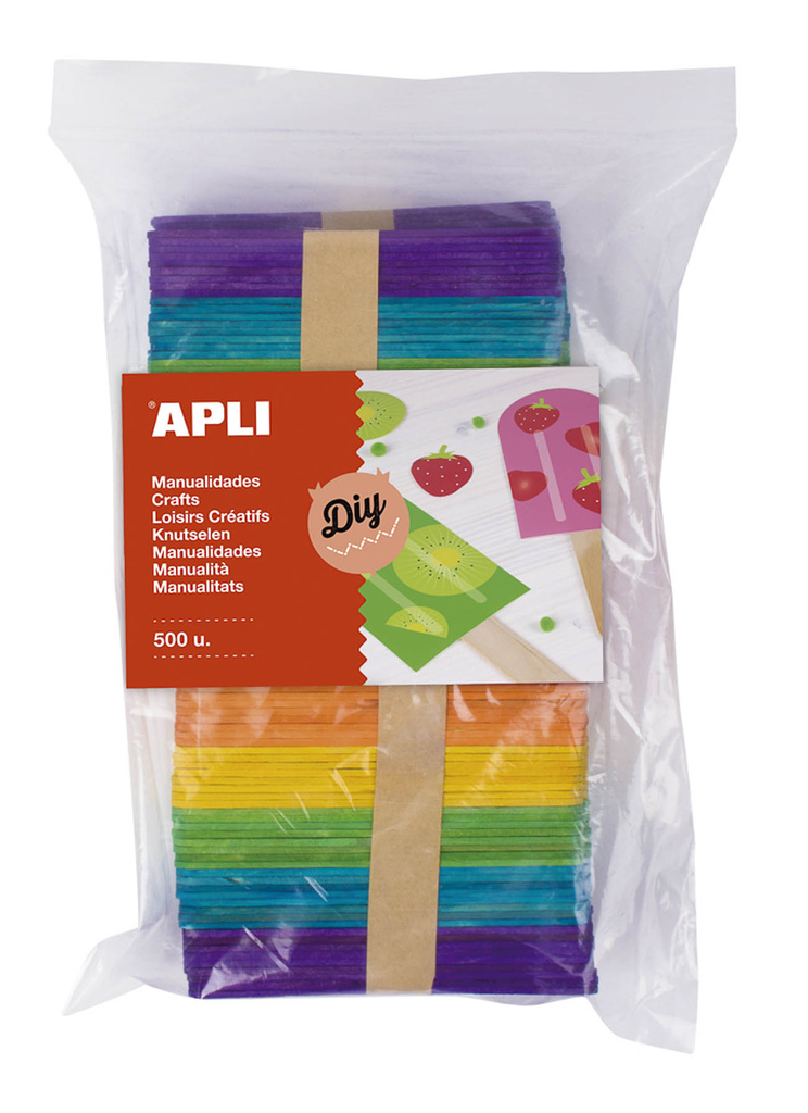 Nanuková dřívka APLI Jumbo / mix barev / 500 ks