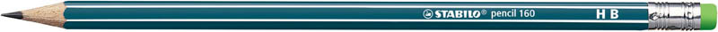 Tužka STABILO 160 s pryží - HB / petrolejová