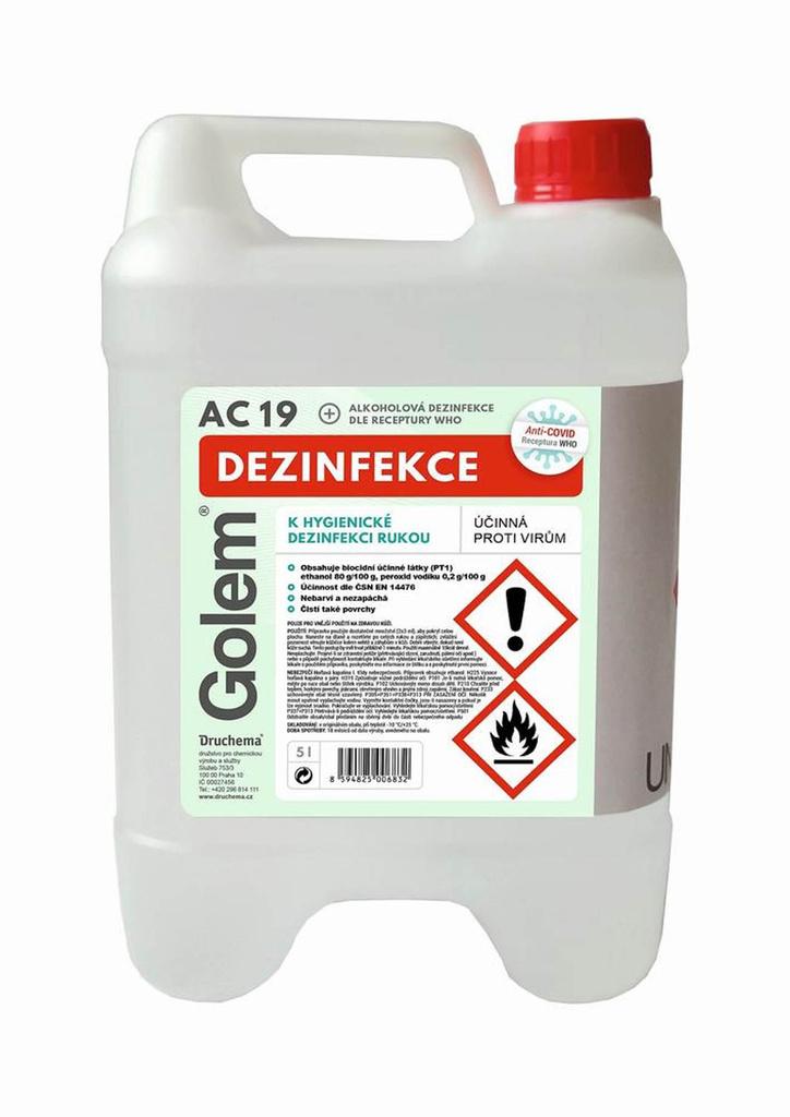 Druchema Golem AC-19 dezinfekce na ruce 5 l