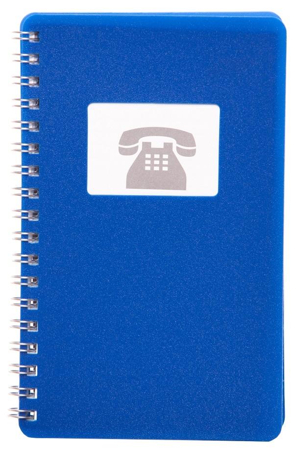 Telefonní záznamník se spirálou BOBO - modrá