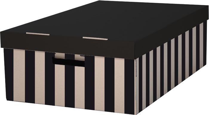 Krabice úložná s víkem - 56 x 37 x 18 cm / 2 ks