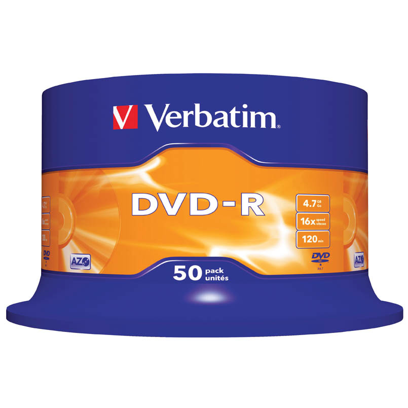 DVD Verbatim - DVD - R / bez krabiček / spindl / 50 ks