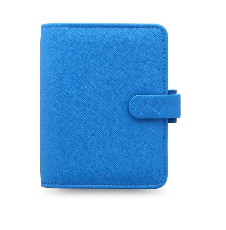 Filofax Saffiano Fluoro kapesní týdenní modrá