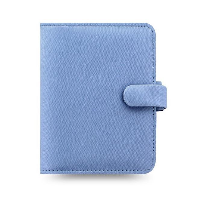 Filofax Saffiano A7 kapesní týdenní  modrá