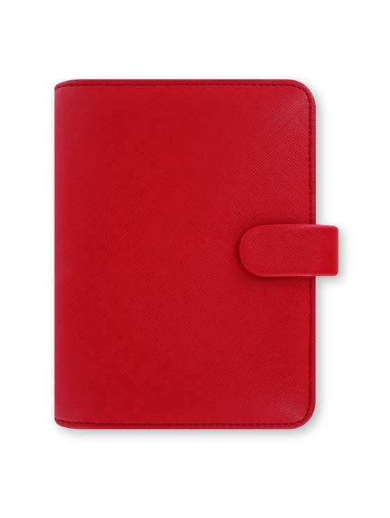 Filofax Saffiano A7 kapesní týdenní červená