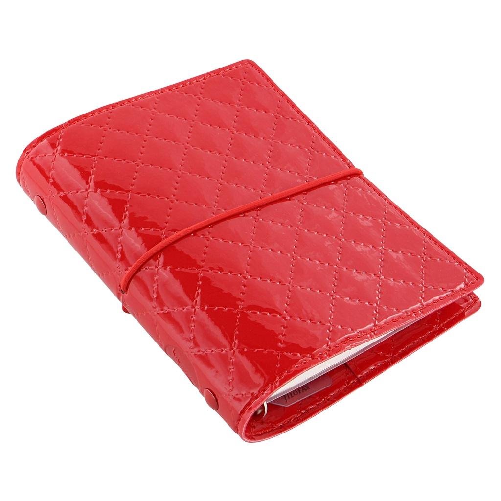 Filofax Domino Luxe A7 kapesní týdenní červená