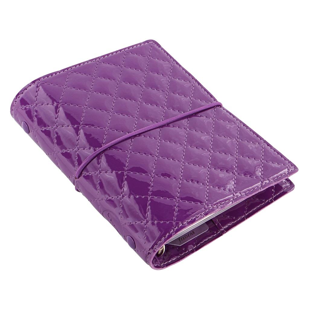 Filofax Domino Luxe A7 kapesní týdenní fialová