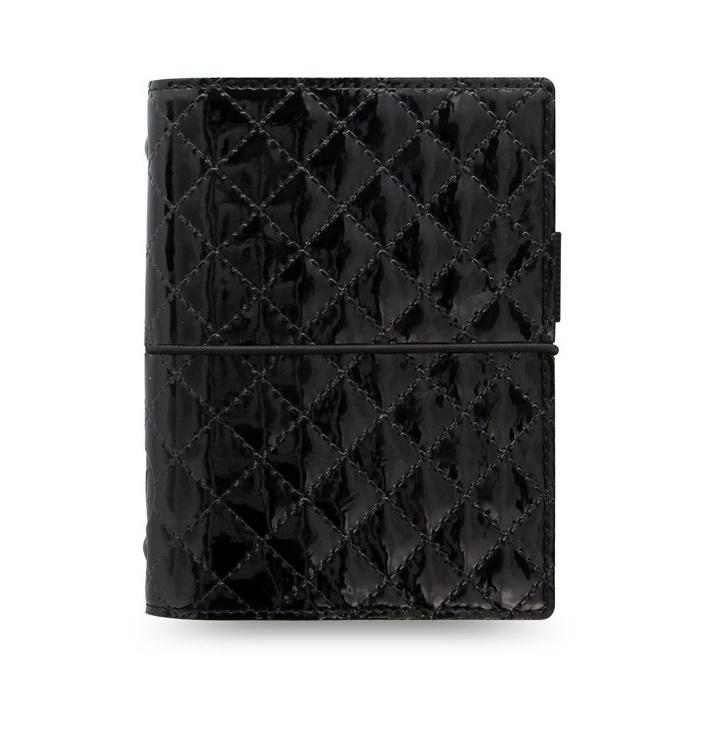 Filofax Domino Luxe A7 kapesní týdenní černá
