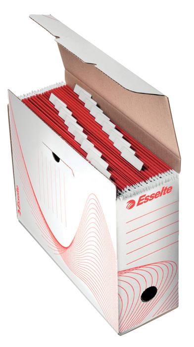 Box archivní Esselte na závěsné desky - hřbet 11,6 cm / bílá
