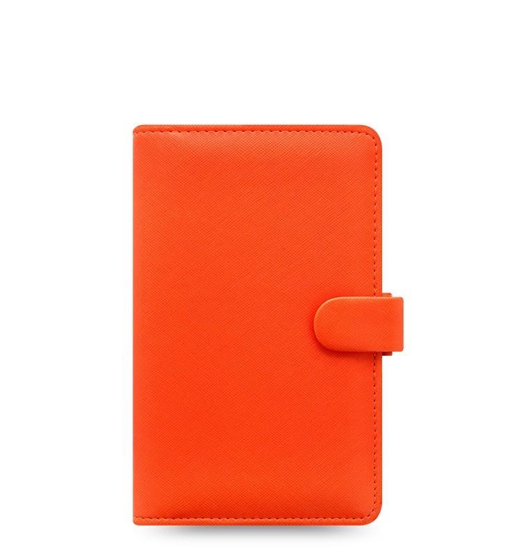 Filofax Saffiano A6 osobní compact týdenní oranžová