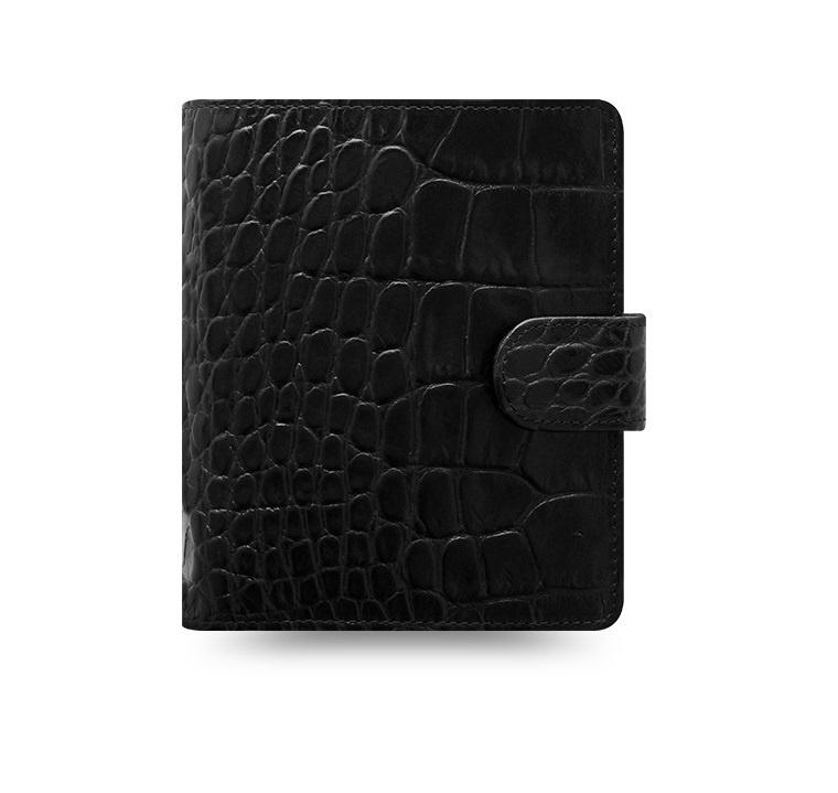 Filofax Classic Croc A7 kapesní týdenní černá
