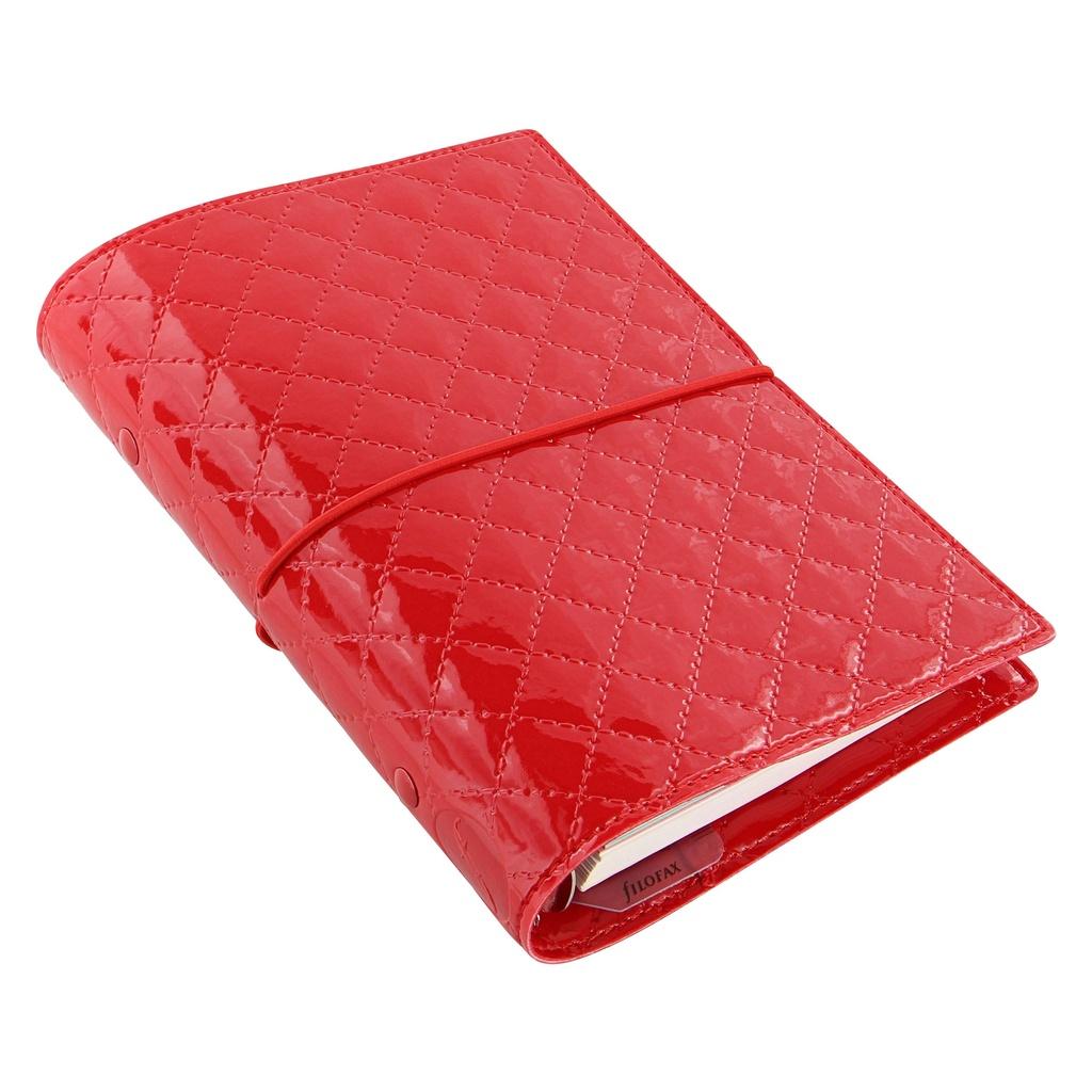 Filofax Domino Luxe A6 osobní týdenní červená