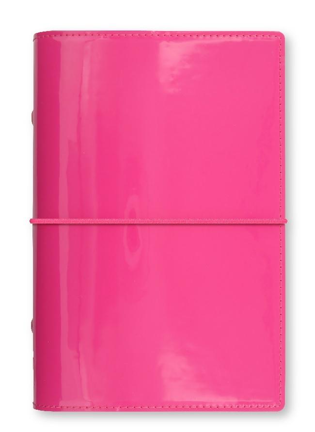 Filofax Domino Patent A6 osobní týdenní růžová