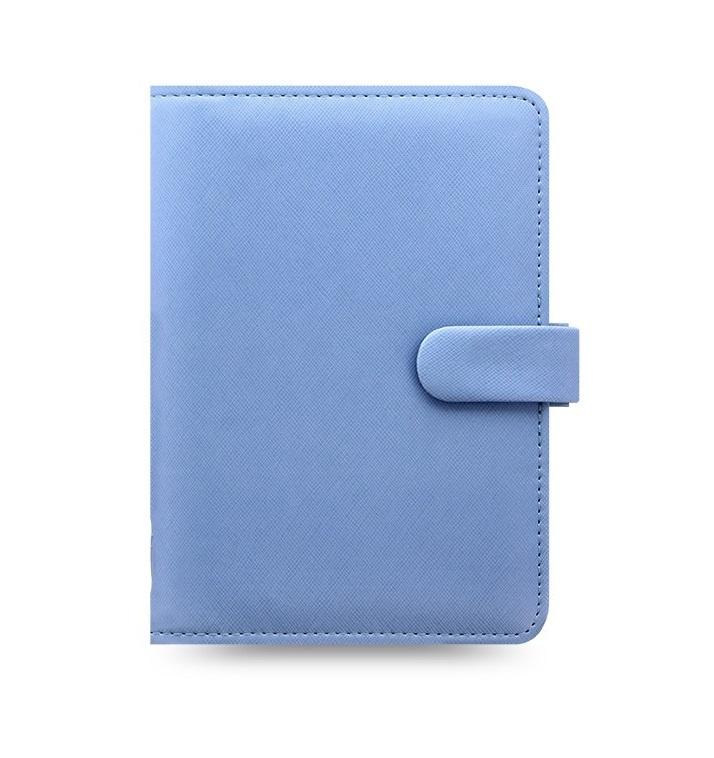 Filofax Saffiano A6 osobní týdenní modrá