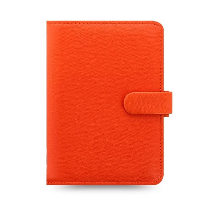 Filofax Saffiano A6 osobní týdenní oranžová