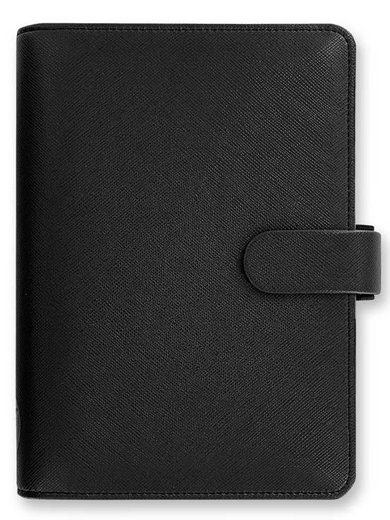 Filofax Saffiano A6 osobní týdenní černá