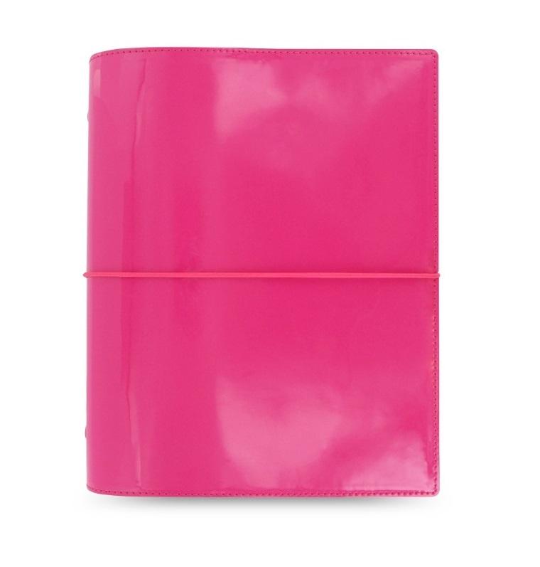 Filofax Domino Patent A5 compact týdenní růžová