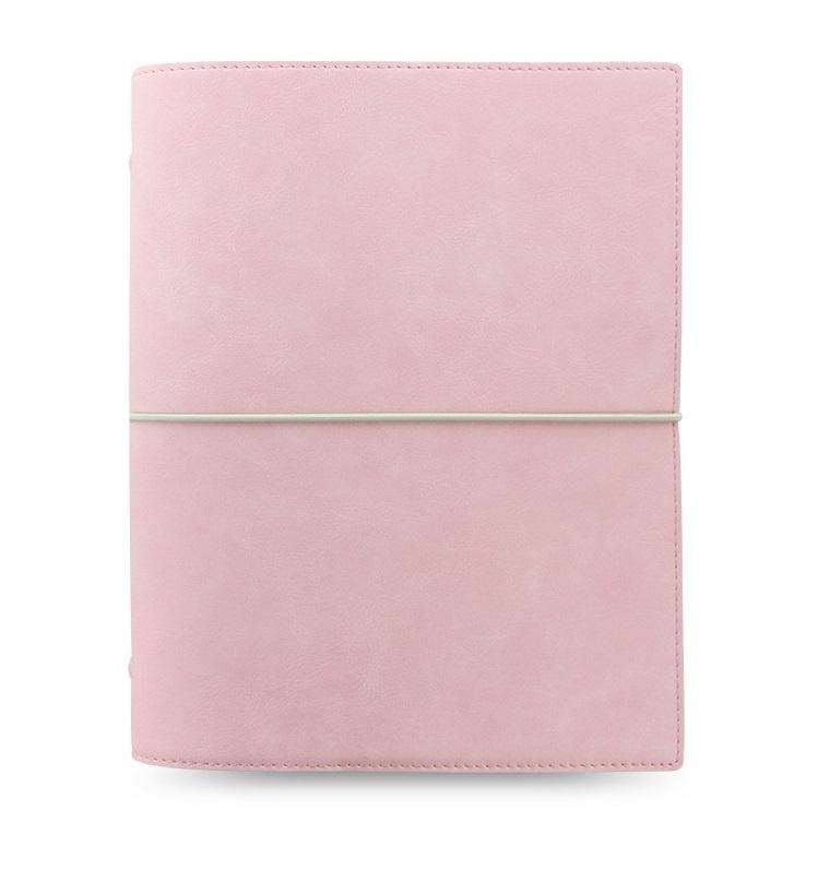 Filofax Domino Soft A5 týdenní pastelová růžová