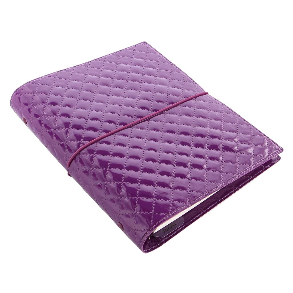 Filofax Domino Luxe A5 týdenní  fialová