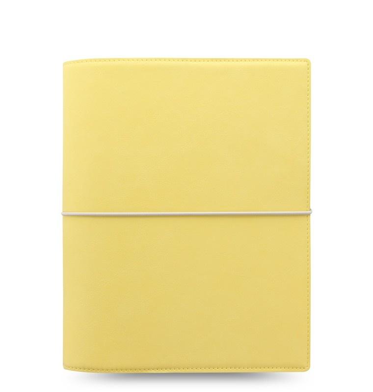 Filofax Domino Soft A5 týdenní pastelová žlutá