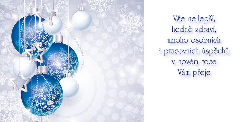Novoročenky jednolisté - H585 / modré ozdoby