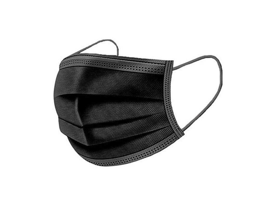Čtyřvrstvá ochranná rouška jednorázová - ČERNÁ