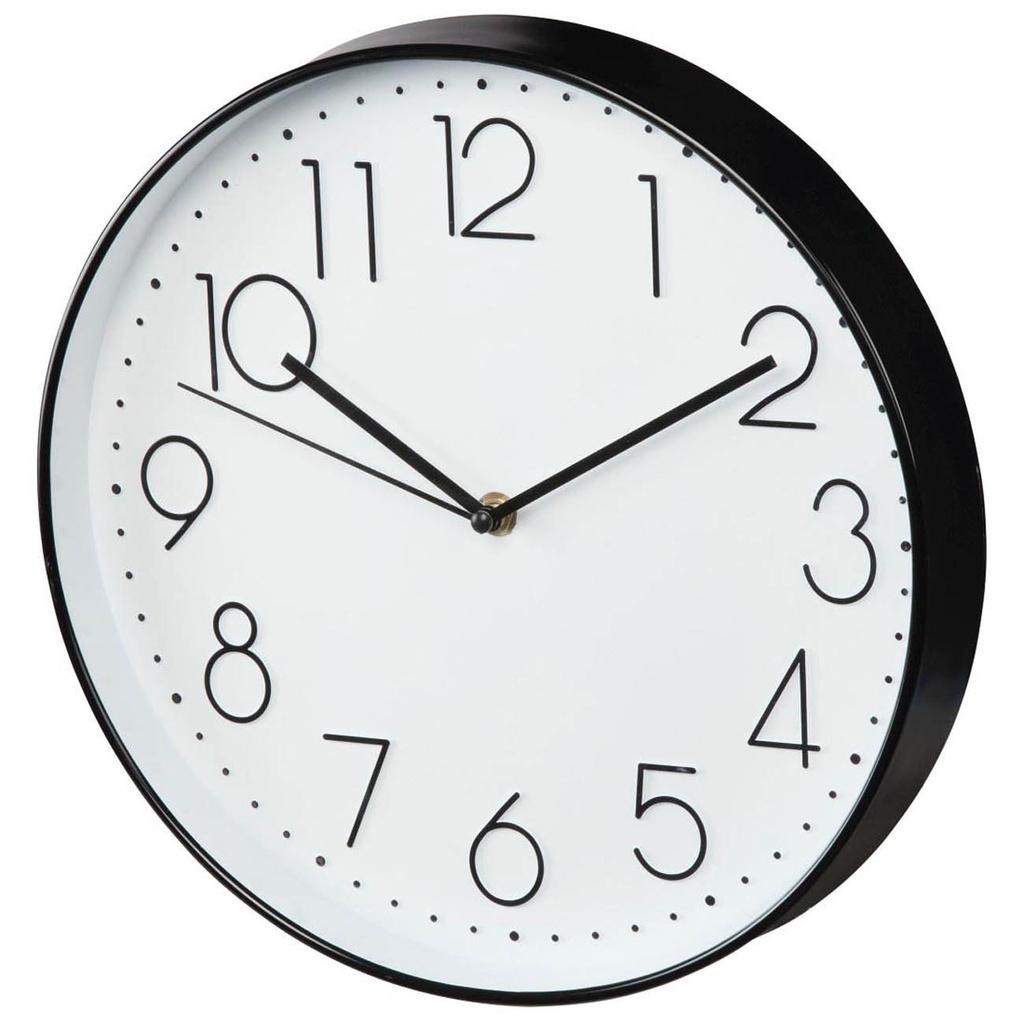 Nástěnné hodiny Hama Elegance tiché / bílo-černé / průměr 30 cm