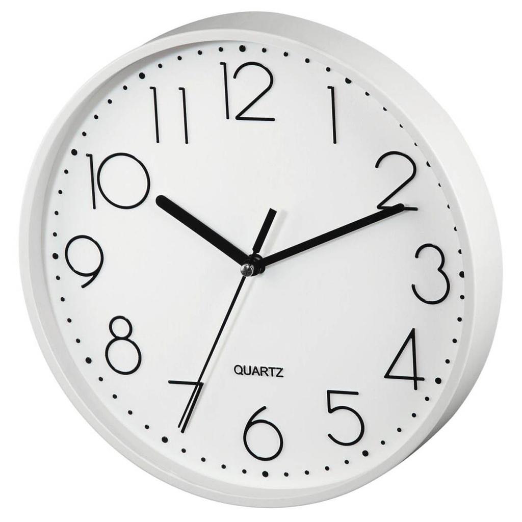 Nástěnné hodiny Hama P6-220 bílé / tichý chod / průměr 22 cm