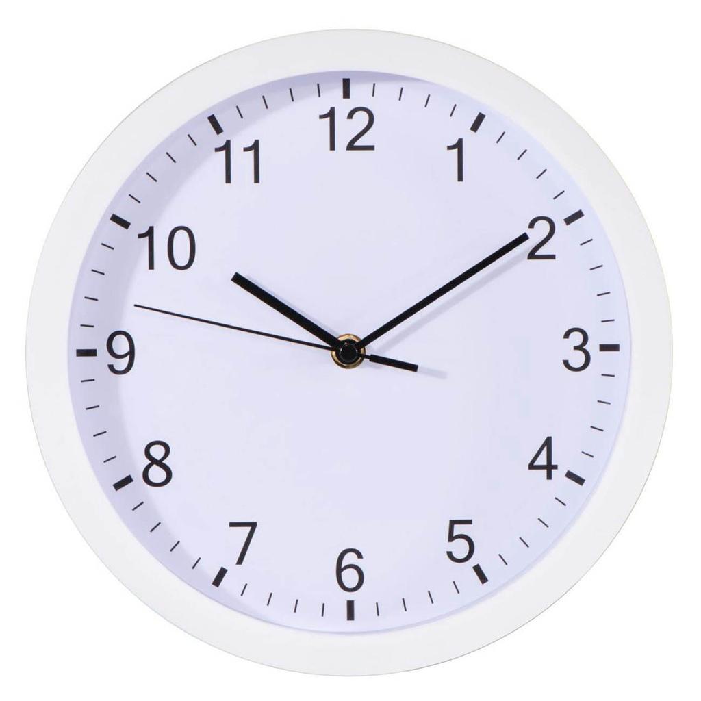 Nástěnné hodiny Hama Pure bílé / tichý chod / průměr 25 cm